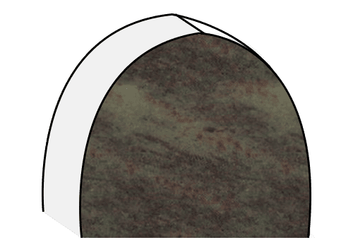 green granite headstone