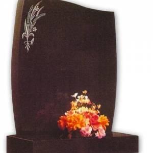 curved granite headstone