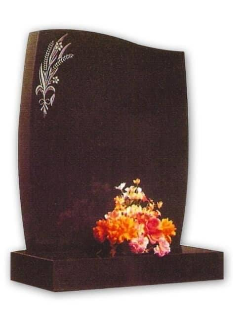 curved granite headstone