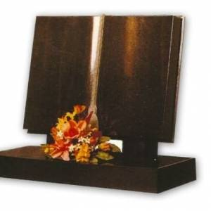 flat pages granite headstone
