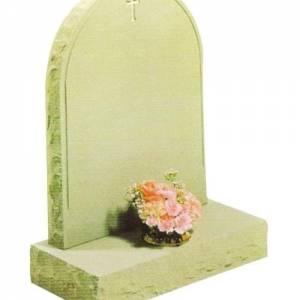 stone headstone with cross