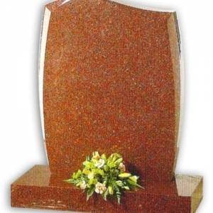 ruby red granite headstone