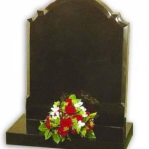 blank granite headstone
